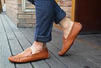 Men's casual loafers breathable men's leather shoes vintage driving men boat shoes classic lazy men gommini doug shoes MS2236