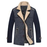2014 Men's new winter men wool coat long sections woolen coat wool woolen men