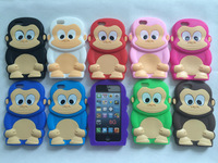 Silicone Case For Apple iPhone 6 4.7'',3D Cartoon monkey silicone case for iphone 6 6G,wholesale 5pcs/lot