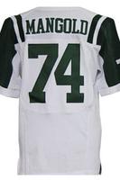 Cheap Free Shipping American New York Football #74 Nick Mangold Jersey White, Green Stitched Logo Elite