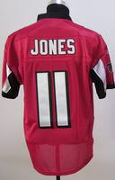 Cheap Free Shipping American Atlanta Football #11 Julio Jones Jersey White, Red Stitched Logo Elite