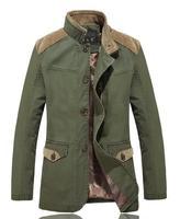 Men's windbreaker jacket and long sections coat male Korean men's windbreaker tide plus fertilizer XL Autumn coat England