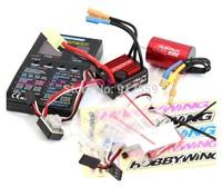 RC Model Hobbying QUICRUN 3650SD 1700KV 21.5T Sensored Brushless Motor & 60A ESC  & programming card