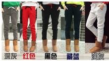 2014 women's sports pants 100% cotton Loose Casual Pants plus thick velvet cotton Hip Hop Dance Sports Women's Pants Harem Pants(China (Mainland))