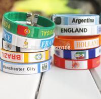 Wrist strap Sports bracelet  SOCCER  sports memorabilia 2014 new Spain, Portugal, Holland and Italy