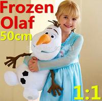 Frozen Snowman 46cm Tall OLAF Plush Toy High Quality Frozen Doll Cartoon Children gift