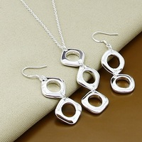 925 silver set-T130-Xmas jewelry,Free Shipping,2014 New,High Quality Earring Necklace Jewelry Set,925 Sterling Silver jewelry