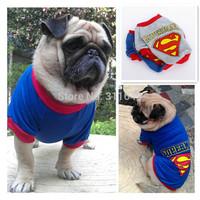 Fashion Superman Summer Dog T shirt 100% Cotton Pet Vest Doggie Clothes Puppy Apparel