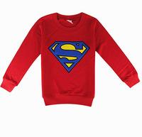 Children Kids Clothing Tees,New2014Cool Superman&Batman Boy Girl's Tshirts,Kids Cotton Full Sleeve Tops,Children Outwear5pcs/Lot