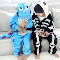 New Children Onesie Adult Fleece Lovely Cow Pyjamas Pajamas Sleepsuit sleepwear Kids Onesies