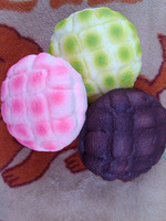 Super Squishy! Slow To Rise 3 Colors Jumbo Green Pink Chocolate Melon Bun Squishy Wrist Pad Mouse Pillow