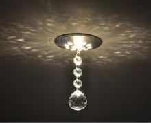 Sales promotion!! K9 ball crystal aisle lights corridor lights hallway lights background wall spotlights b6007(China (Mainland))