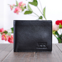 2014 Hot Fsshion New Promotion Casual Wallets Design Genuine Leather Top Purse Men Wallet Coin Bag Wholesale Free shipping WEF