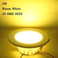 LED Panel Light 5W AC220-240V 20 LED 2835 Warm White DownLight Lamp Spot Light LEDTD004