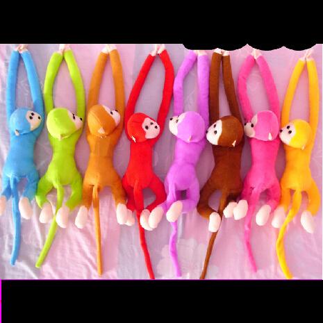 Brand New 2014 Plush Stuff ed Cartoon Toys Baby Long Arm Monkey Large Soft Animals Toy For Kids Full Length 65 CM High Quality(China (Mainland))