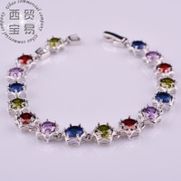 Free Shipping 2014 New Fashion Vintage Noble Exquisite Rhinestone Shining Bracelet Woman Jewelry  SL002