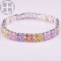 Free Shipping 2014 New Fashion high quality Noble Exquisite Rhinestone Shining Bracelet Woman Jewelry  SL003