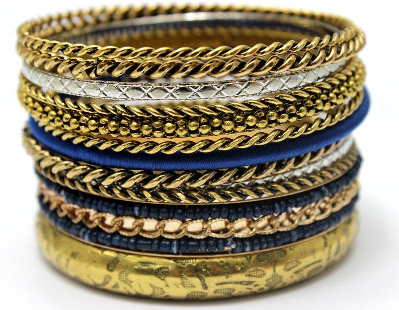 Wholesale Vintage Metal Bangles Mix Neon Color Handmade Bracelets Indian Retro Ethnic Fashion Ladies Accessories Jewerlries(China (Mainland))
