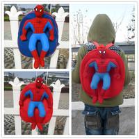 Super cute soft plush spideman doll backpack, stuffed children school bag, high quality Christmas & birthday gift for kids, 1pc