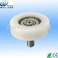 China POM sliding drawer wheel with bearing 626ZZ thinkness 10mm
