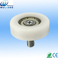 China POM sliding drawer wheel with bearing 626ZZ thinkness 10mm