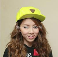 Leather baseball cap visor hat