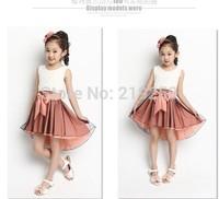 2014 lace dress fashion girls dovetail princess skirt free shipping