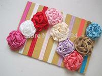 36pcs/lot Free Shipping Big Vintage Style Rose Flower Baby Hairband Wholesale