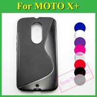 1 X Soft TPU Gel S line Skin Cover Case For Motorola Moto X+1 XT1097