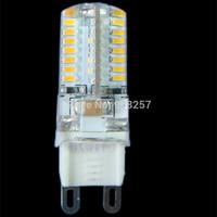 FREE SHIPPING 10 x G9 Warm White bulb 220V 3W 64 3014 SMD LED light Silicone Crystal