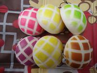30pcs New Colors Melon Bread Bun Squishy Charm Free Shipping