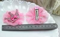 Fashion New kids children girls  Gauze shiny crown hairpin hair accessories  Hair bands/hair accessories free shipping