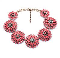 fashion jewelry metal alloy chunky big flower amazing luxurious heavy statement necklace 370g