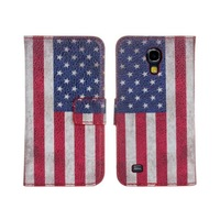 Printing Flag PU Leather Phone Frame Shell Case Cover Card Slots Wallet For Samsung Galaxy S3 Mini I8190 +Gift One Stylus Pen