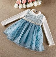 New Baby Girls Korea High Quality Fashion Dot Ganze Tutu Dresses, Princess Formal Lady Wear  5 pcs/lot, Free Shipping
