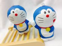 20pcs/Lot New Japan Cartoon 3 Styles Doraemon Doll Squishy Charm/Key Chain Toy For Girl