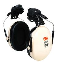 3M original Optime 95 Cap-Mount Earmuffs Hearing Conservation H6P3E Ultra light with liquid/foam filled earmuff cushions E111