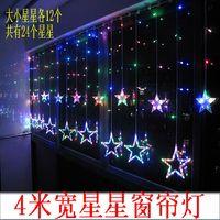Led small lantern stars string Gypsophila romantic birthday for wedding marriage room furnishings decoration 4 meters wide