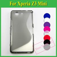 1 X Soft TPU Gel S line Skin Cover Case For Sony Xperia Z3 Compact Mini D5803 D5833 M55W