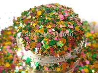 Nail Art Acrylic Gel Glitter mix Mardi Gras