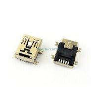 100pcs/lot Mini USB B female socket SMD 5 Pin 5P Female Plug Connector Socket 5-Pin Female Mini B USB SMD Connector