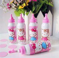 Free Shipping 48 pcs Hello Kitty Feeding Bottle Ballpoint Pen, Lovely HelloKitty Baby's Bottle Ball Pen, Novelty Stationary
