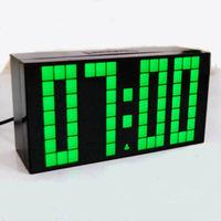 Free shipping new Digital Large Big Jumbo LED Alarm Clock Snooze wall/desk calendar clock