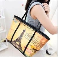 Autumn 2014 European and American vintage handbag hand-painted graffiti casual fringed shoulder bag women bags 43*28*13cm SJ-37