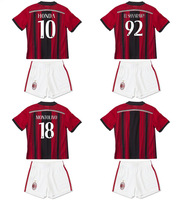 2014-15 AC Home red and white Jersey soccer jerseys kids soccer jerseys children, EL SHAARAWY # 92,MONTOLIVO #18,