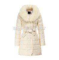 New 2014 Winter Women Thicked Down Coat Warm Long Fur Coat Slim Down Cotton Padded Women Parka Coat Women Down Jacket W658