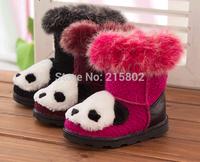 Free shipping! 2014 winter new rabbit panda cartoon children snow boots, fashion girls cotton shoes, kids shoes