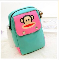 candy-colored cartoon monkey waterproof messenger bag handbag chest bag fashion unisex travel bags 6 colors