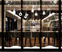 Nine nine wall post Christmas merry Christmas New Year English 2015 hang hang glass window stickers  91149