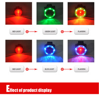 Bike Bicycle Laser Beam Rear Tail Light Tail light For Outdoor Alarm Driving NEW  6 white led+1red led cylindrical lamp